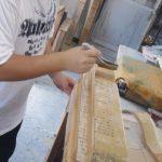 蓮池うるし工房(広島)膠砥の粉下地