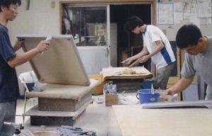 蓮池うるし工房(広島)地の粉膠下地