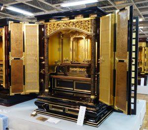 第23回全国伝統工芸品仏壇仏具展で最高賞となる経済産業大臣賞を受賞したお仏壇