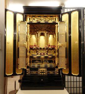 お仏壇のコガ(福岡)伝統的工芸品金仏壇20号高さ135㌢