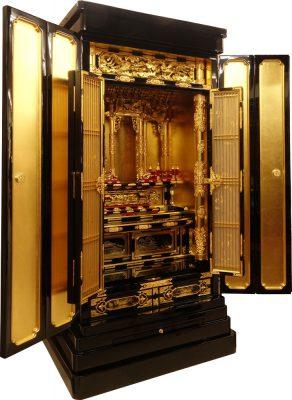 お仏壇のコガ(福岡)高さ135㌢伝統的工芸品金仏壇20号