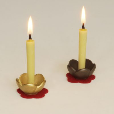 ハシモト清うめ燭台和蝋燭
