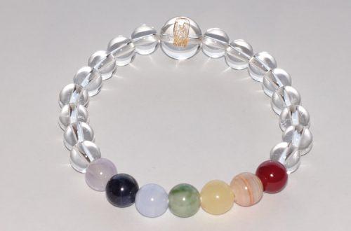 今月のプレゼント アマビエ珠数 水晶&七色石入りを5名様